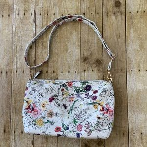 Handbags - Crossbody Floral Botanical White Purse